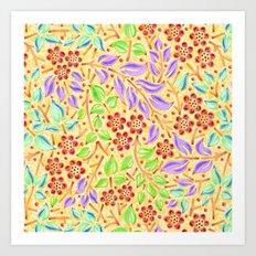 Sunshine Filigree Floral Art Print
