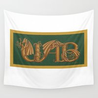 dragons Wall Tapestries featuring UAB Dragons by ZooLN Art