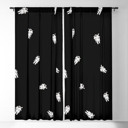 in outer space Blackout Curtain