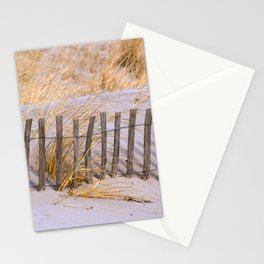 Scenic Beach Fence Stationery Cards