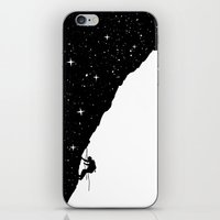 climbing iPhone & iPod Skins featuring night climbing by Balazs Solti