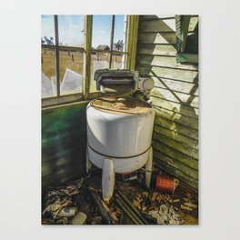 Washing on the Front Porch Canvas Print