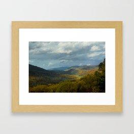 Great Smoky Mountains Late Autumn Vista Framed Art Print