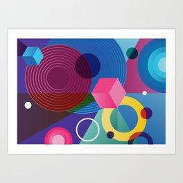 GEOMETRIC GROOVE 2 Art Print