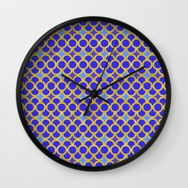 Blue Gold Scales Wall Clock