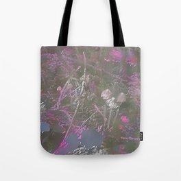 Lilac Fractal Mushrooms Tote Bag