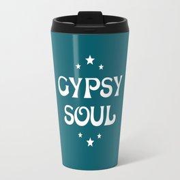 Gypsy Soul Mystical Stars Teal Travel Mug