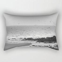 Beach, Calais, France. Rectangular Pillow