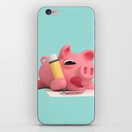 Rosa the Pig Drawing iPhone Skin