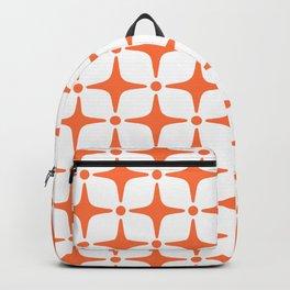 Mid Century Modern Star Pattern Orange Backpack