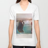 explore V-neck T-shirts featuring Explore by Trickyricky901