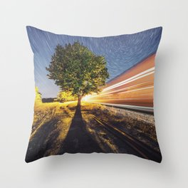 Railroad of the Elm Throw Pillow