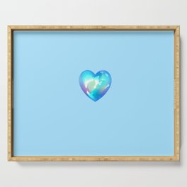 Crystal Heart Solo Version - Blue BG Serving Tray
