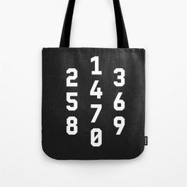 Typography Numbers #3 Tote Bag