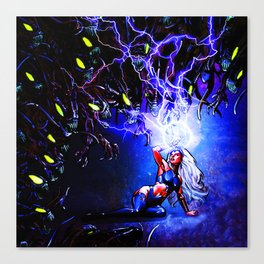 surrounded by the enemy Canvas Print