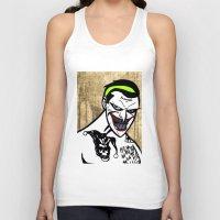 jared leto Tank Tops featuring Mark Hamill + Jared Leto = The Joker by VanBof