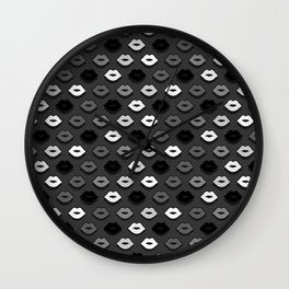 Dark Kiss Wall Clock