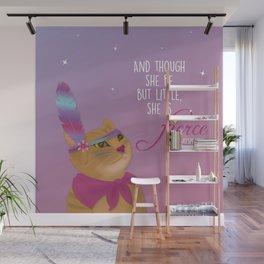 Fierce Tabby Cat Wall Mural