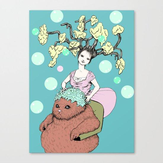 Purr Hairdresser Canvas Print