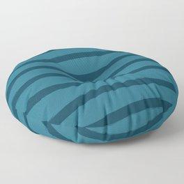 Paint Lines Blues Floor Pillow