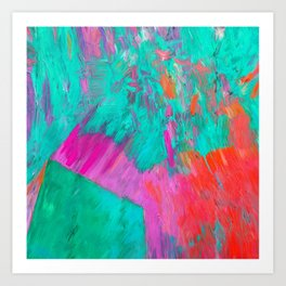 Colorful Emotions, Abstract Painting Art Print