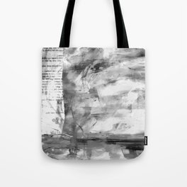 Triskelion Book Abstract Black and White by Ericka O'Rourke Tote Bag