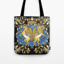 Horse & Leo Royal Blue Tote Bag