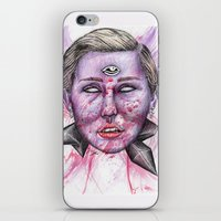 miley iPhone & iPod Skins featuring Miley by Vvaanniiee
