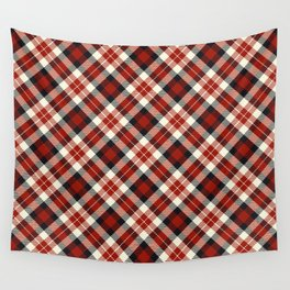 Holiday Plaid 12 Wall Tapestry