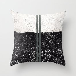 Stone and Splatter Throw Pillow
