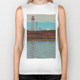Lighthouse Travels in Time Biker Tank