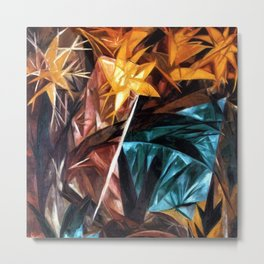 Rayonist Lillies by Natalia Goncharova Metal Print