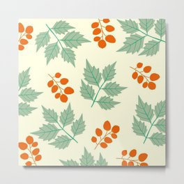 autumn leaves pattern Metal Print