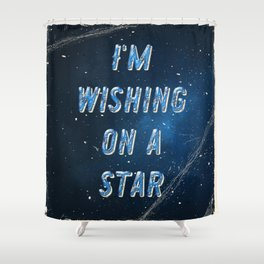 I'm wishing on a Star - 50 Years Moonlanding Shower Curtain