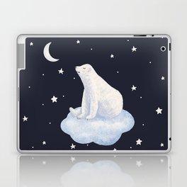 white bear on the cloud Laptop & iPad Skin
