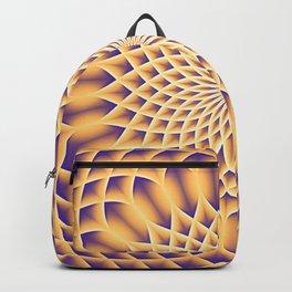 LOTUS FLOWER MANDALA salmon violet Backpack