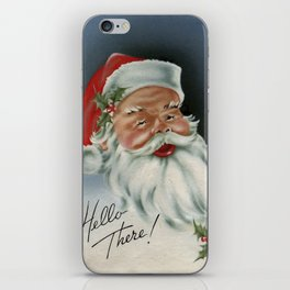 Hello there vintage santa portrait iPhone Skin