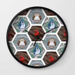 Fat Birds Pattern Wall Clock