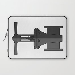 Gate valve in beautiful design Fashion Modern Style Laptop Sleeve