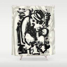 Saint With Bird Shower Curtain