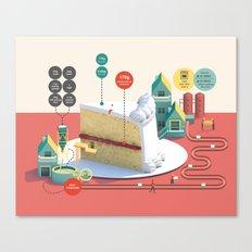 Imaginary Factory - Cake  Canvas Print