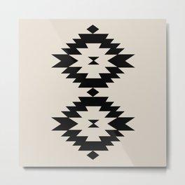 Southwestern Minimalism - Black Metal Print