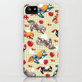 Паттерн с лошадками iPhone Case