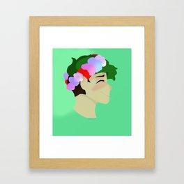 Flower Sean Framed Art Print