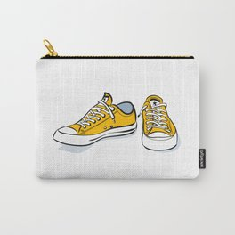 Yellow Sneakers Carry-All Pouch