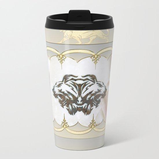 Lion silhouette Metal Travel Mug