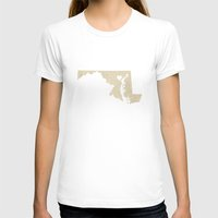 maryland T-shirts featuring Baltimore, Maryland Love by Fercute