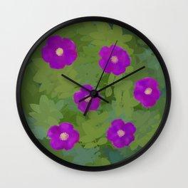 Flower Rosa Rugosa Wall Clock