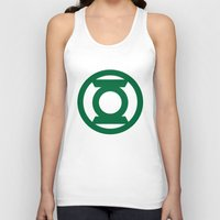 green lantern Tank Tops featuring Green Lantern  by Evan Krushelnycky