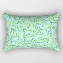 Watercolor Tropical Leaves Rectangular Pillow